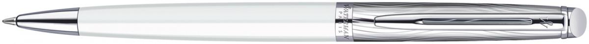 Waterman Hemisphere Ballpoint Pen - Deluxe White Chrome Trim