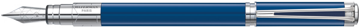 Waterman Perspective Fountain Pen - Blue Obsession Chrome Trim