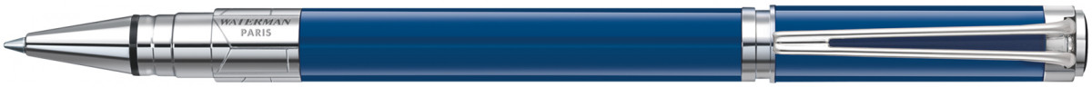 Waterman Perspective Rollerball Pen - Blue Obsession Chrome Trim
