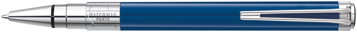 Waterman Perspective Ballpoint Pen - Blue Obsession Chrome Trim