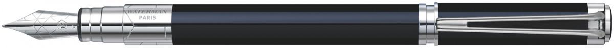 Waterman Perspective Fountain Pen - Black Chrome Trim