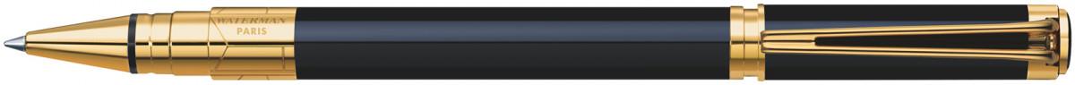 Waterman Perspective Rollerball Pen - Black Gold Trim