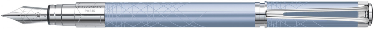 Waterman Perspective Fountain Pen - Decorative Azure Blue Chrome Trim