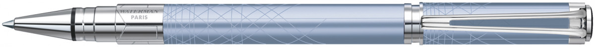 Waterman Perspective Rollerball Pen - Decorative Azure Blue Chrome Trim
