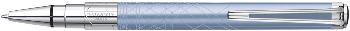 Waterman Perspective Ballpoint Pen - Decorative Azure Blue Chrome Trim