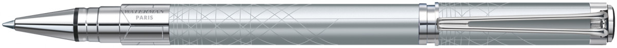 Waterman Perspective Rollerball Pen - Decorative Silver Chrome Trim