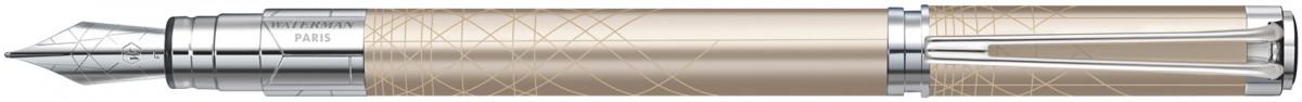 Waterman Perspective Fountain Pen - Decorative Champagne Chrome Trim