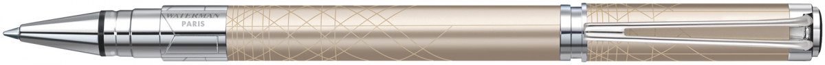 Waterman Perspective Rollerball Pen - Decorative Champagne Chrome Trim