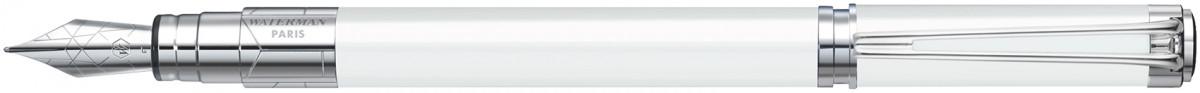 Waterman Perspective Fountain Pen - White Chrome Trim