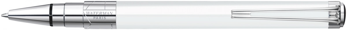 Waterman Perspective Ballpoint Pen - White Chrome Trim