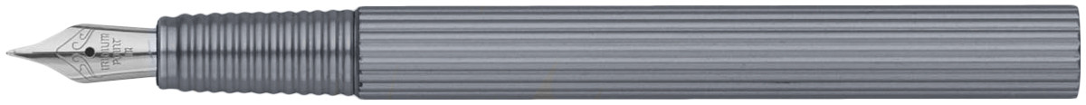 Worther Profil Fountain Pen - Grey Aluminium