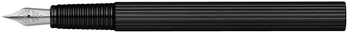 Worther Profil Fountain Pen - Black Aluminium