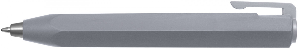Worther Shorty Ballpoint Pen - Aluminium (in Black Leather Case)