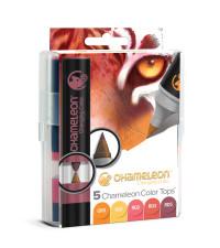 Chameleon Colour Tops - Warm Tones (Pack of 5)