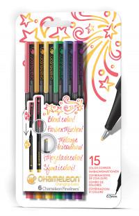 Chameleon Fineliner Pens - Primary Colours (Pack of 6)