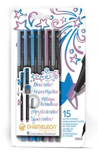 Chameleon Fineliner Pens - Cool Colours (Pack of 6)