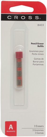 Cross Pencil Erasers - 0.9mm (Pack of 3)