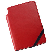 Cross Ruled Leather Journal - Crimson Red - Small