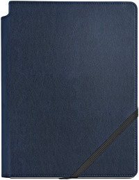 Cross Dotted Leather Journal - Midnight Blue - Large