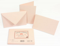 Crown Mill Classics C6 Set of 10 Folded Cards and Envelopes - Pink