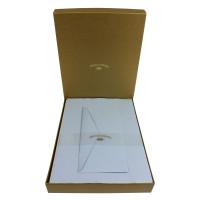 Crown Mill Golden Line DL 100gsm Set of 25 Sheets and Envelopes - Blue