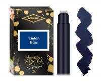 Diamine Ink Cartridge - Tudor Blue (Pack of 20)