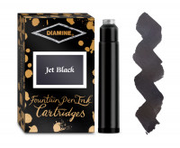 Diamine Ink Cartridge - Jet Black (Pack of 18)
