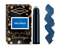Diamine Ink Cartridge - Blue/Black (Pack of 18)