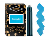 Diamine Ink Cartridge - Turquoise (Pack of 18)