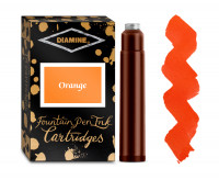 Diamine Ink Cartridge - Orange (Pack of 18)