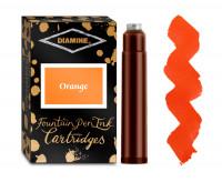 Diamine Ink Cartridge - Orange (Pack of 18)