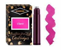 Diamine Ink Cartridge - Claret (Pack of 18)