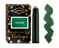 Diamine Ink Cartridge - Emerald (Pack of 18)