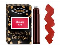 Diamine Ink Cartridge - Monaco Red (Pack of 18)