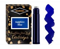 Diamine Ink Cartridge - Sapphire Blue (Pack of 18)