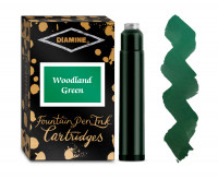 Diamine Ink Cartridge - Woodland Green (Pack of 18)