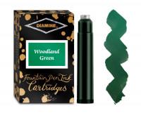 Diamine Ink Cartridge - Woodland Green (Pack of 18)