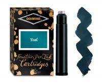 Diamine Ink Cartridge - Teal (Pack of 18)