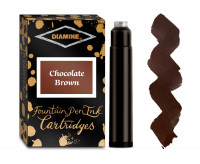 Diamine Ink Cartridge - Chocolate Brown (Pack of 18)