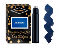 Diamine Ink Cartridge - Midnight (Pack of 18)