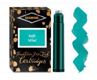 Diamine Ink Cartridge - Soft Mint (Pack of 18)