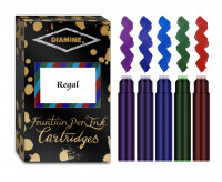 Diamine Ink Cartridge - Regal Colours (Pack of 20)