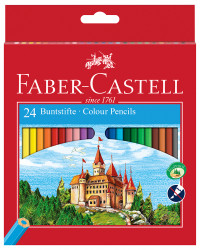 Faber-Castell Classic Colouring Pencils - Assorted Colours (Pack of 24)