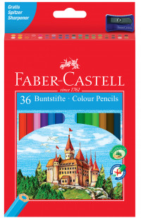 Faber-Castell Classic Colouring Pencils - Assorted Colours (Pack of 36)