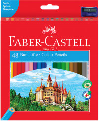 Faber-Castell Classic Colouring Pencils - Assorted Colours (Pack of 48)