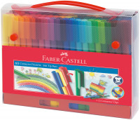 Faber-Castell Connector Fibre Tip Pens - Assorted Colours (Pack of 60)