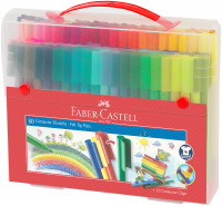 Faber-Castell Connector Fibre Tip Pens - Assorted Colours (Pack of 80)