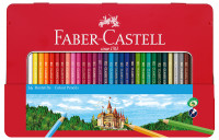 Faber-Castell Hexagonal Colouring Pencils - Assorted Colours (Tin of 36)