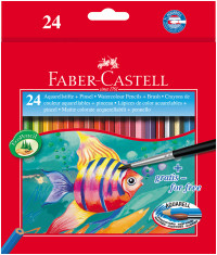 Faber-Castell Aquarelle Watercolour Pencils - Assorted Colours (Pack of 24)