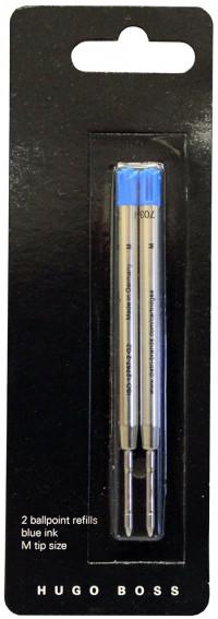 Hugo Boss Ballpoint Refill - Medium - Blue (Pack of 2)